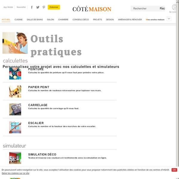 Simulation couleurs et calculatrices peinture, papier peint, carrelage, escalier - Cotemaison.fr