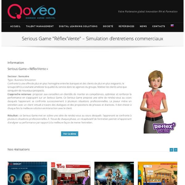 Serious Game « Réflex'Vente » – Simulation d'entretiens commerciaux par Qoveo.