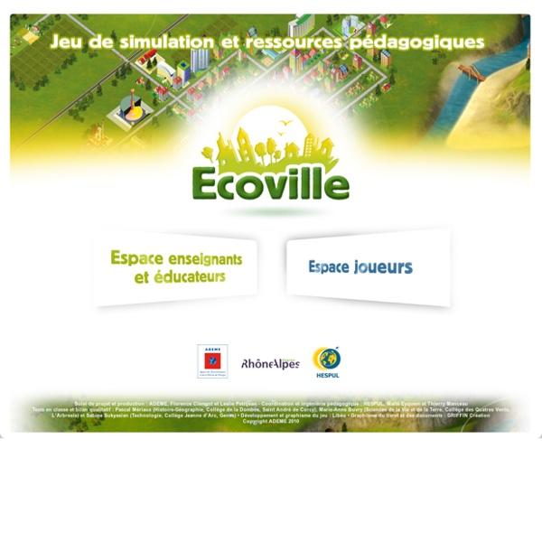ECOVILLE - Jeu de simulation et ressources pédagogiques