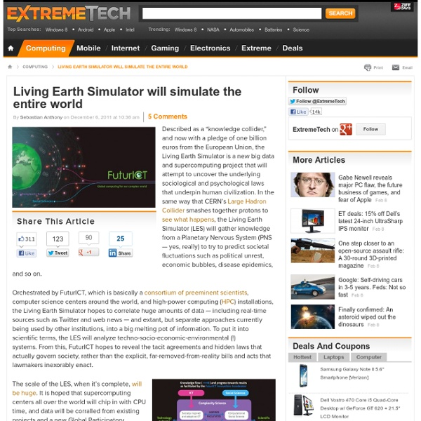 Living Earth Simulator will simulate the entire world