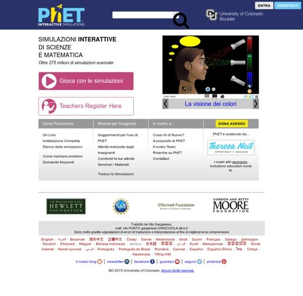 PhET: Simulazioni gratuite on line di fisica, chimica, biologia e scienze della Terra