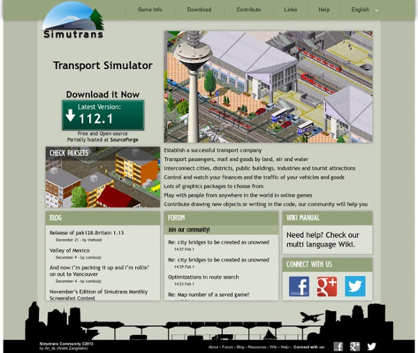 Simutrans - A freeware transportation simulation game