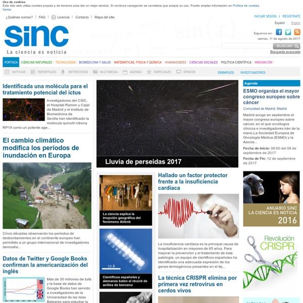 SINC - Servicio de Información y Noticias Científicas