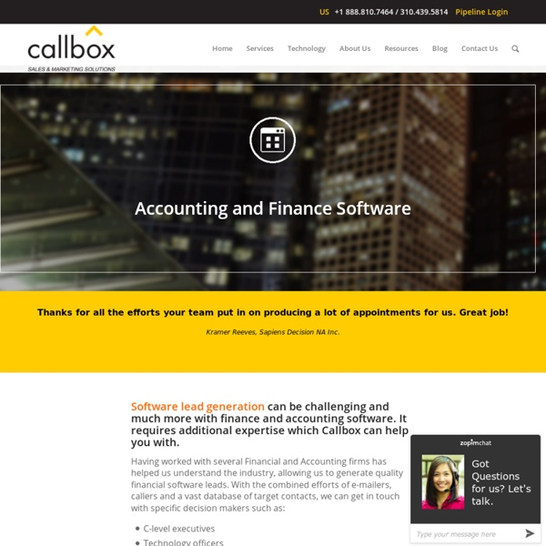 Accounting and Finance Software Leads