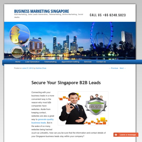 Secure Your Singapore B2B Leads