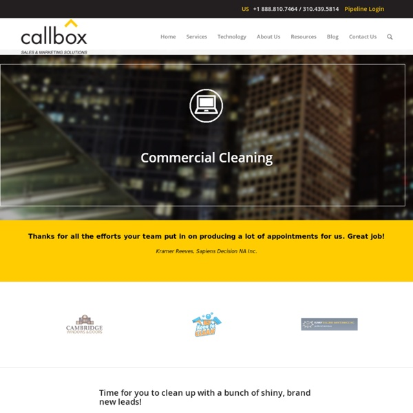 Commercial Cleaning - callbox.com.sg - B2B Lead Generation and Appointment Setting