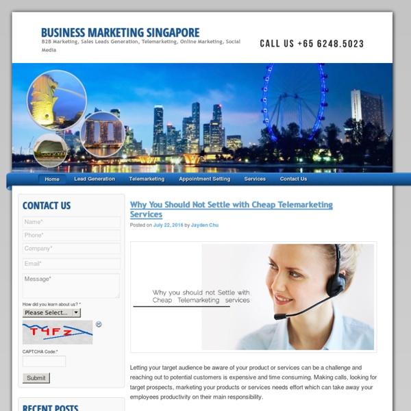 Singapore B2B Marketing Leads Generation