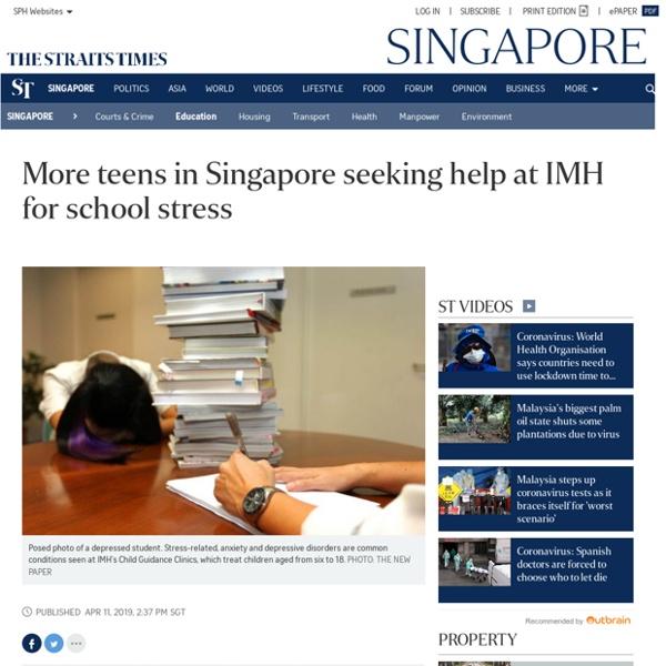 More teens in Singapore seeking help for school stress