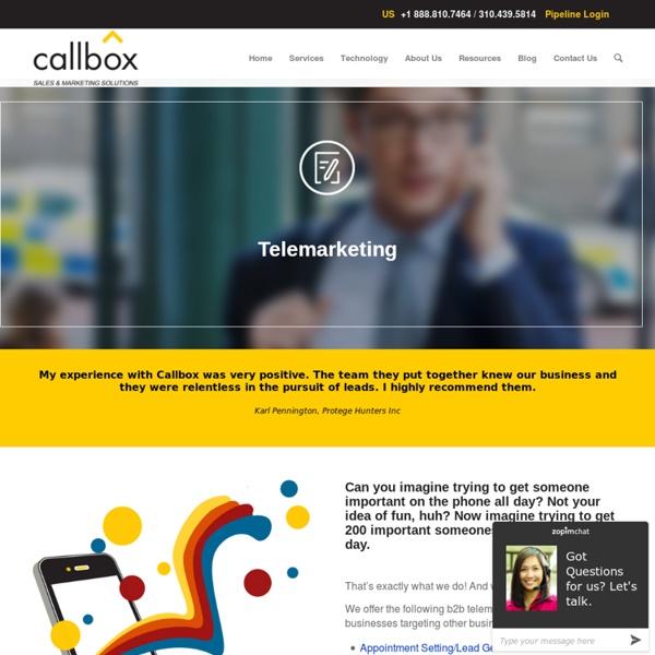 Telemarketing - callbox.com.sg - B2B Lead Generation and Appointment Setting