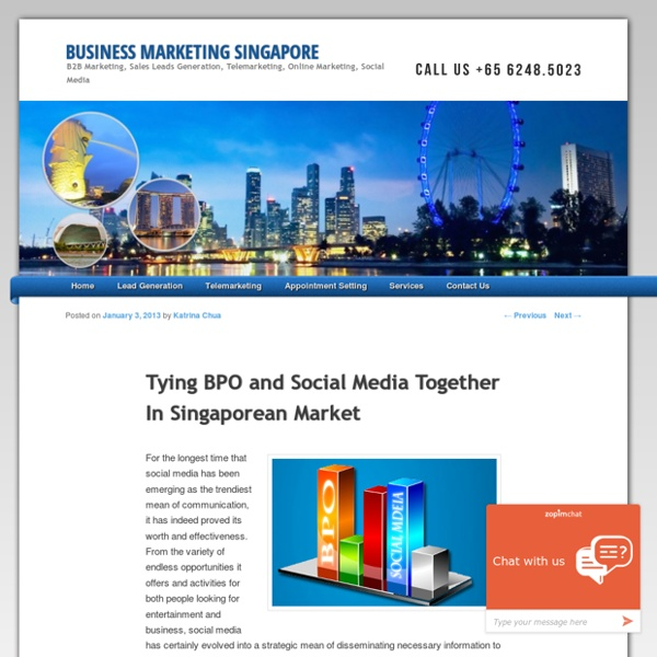 Tying BPO and Social Media Together In Singaporean Market