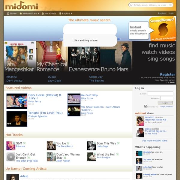 Trouver une musique en la fredonnant- midomi.com