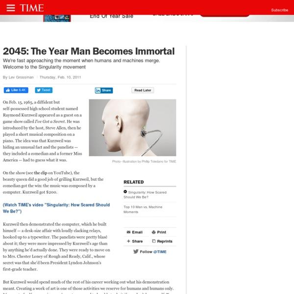 Singularity: Kurzweil on 2045, When Humans, Machines Merge