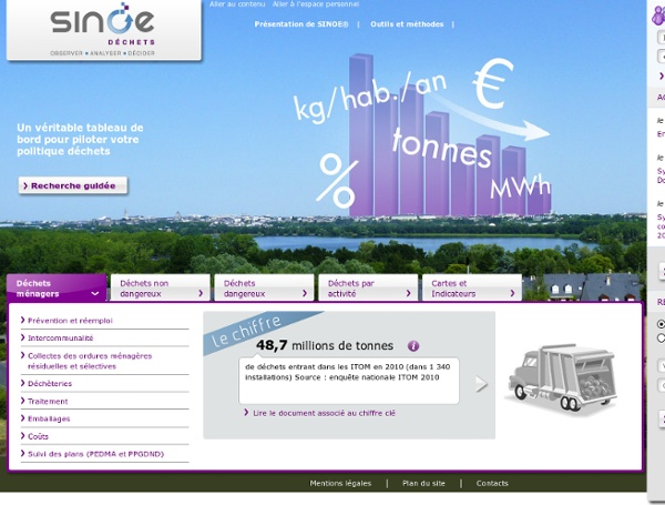 SINOE : données sur la gestion des déchets en France