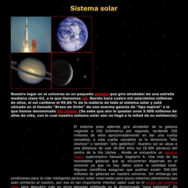 Sistema Solar - Todo sobre El Sistema Solar