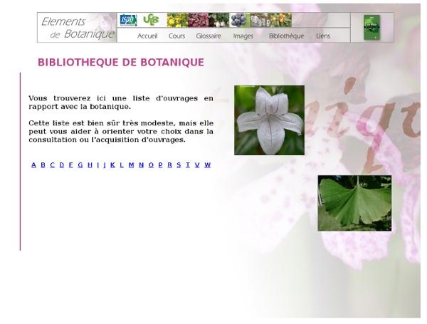 Botanique - BIBLIOTHEQUE