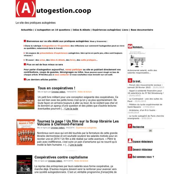 Autogestion.coop - Le site des pratiques autogérées