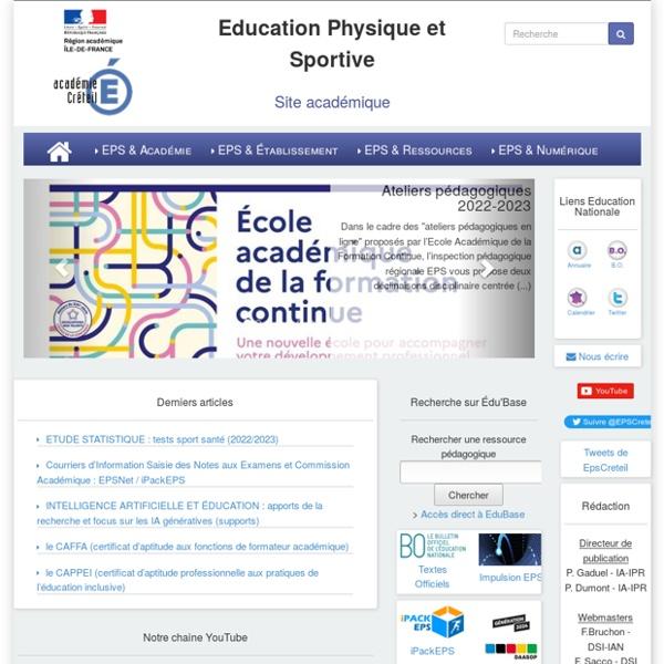 EPS - Académie de Créteil