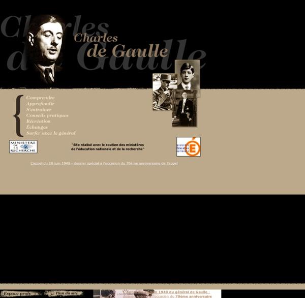 > - Sité éducatif Charles de Gaulle - www.de-gaulle-edu.net - <