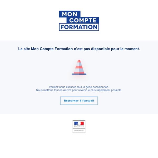 Accueil du site Mon Compte Formation, CPF