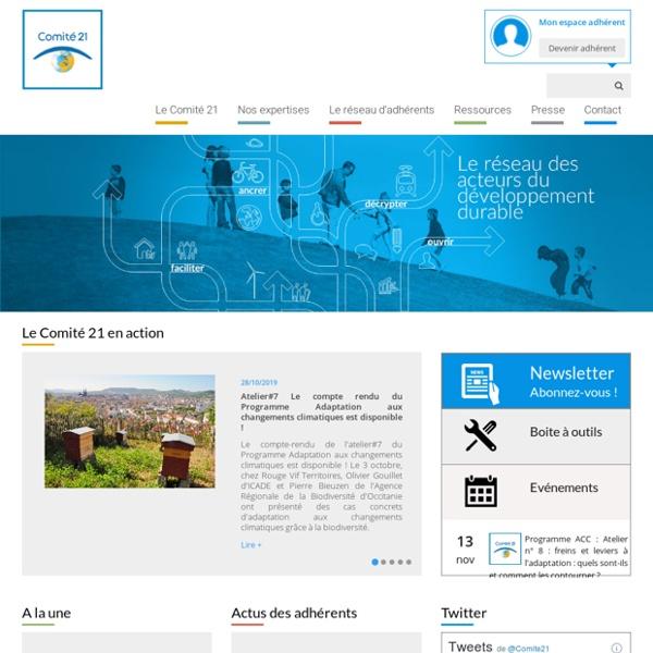Le site du Comité français pour l'environnement et le développement durable