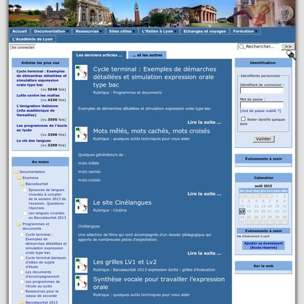 Site d'Italien de l'Académie de Lyon