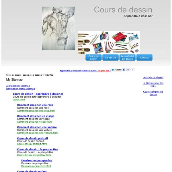Site Map - Cours de dessin