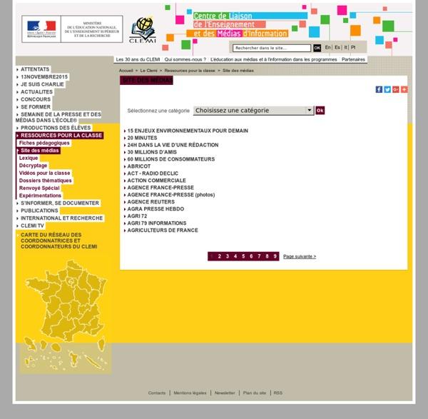 Site des médias