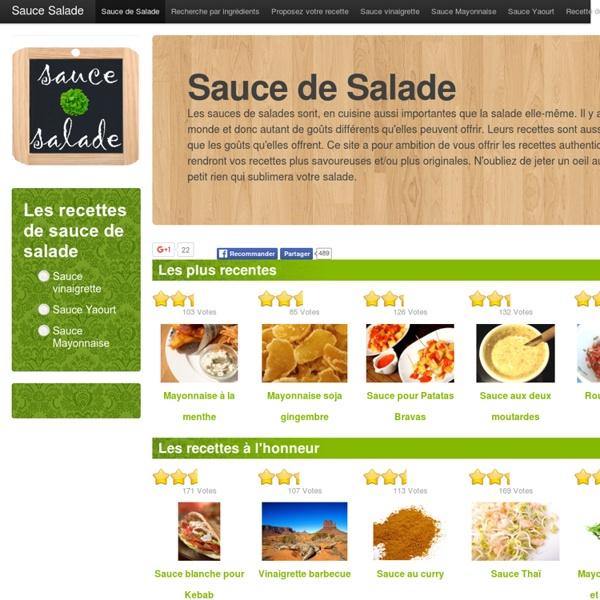 Le site des meilleures sauces de salade