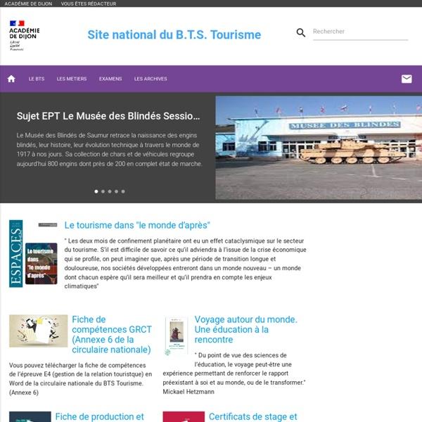 Site national des B.T.S. Tourisme