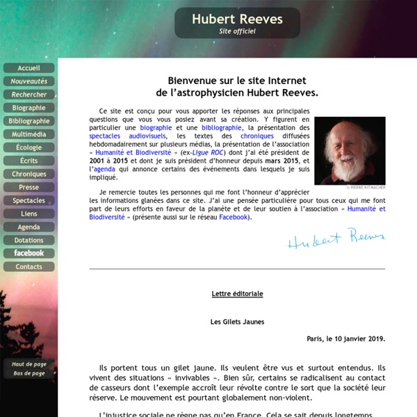 Site officiel de Hubert Reeves