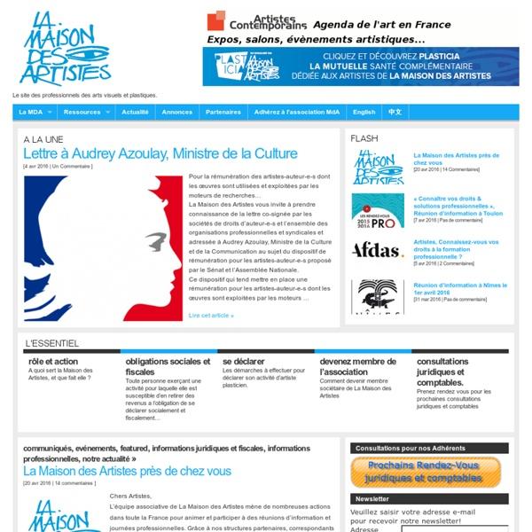 Le site officiel de La Maison des Artistes.