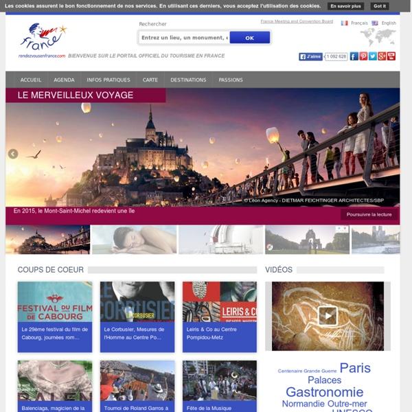 Rendez-vous en France, site officiel du tourisme en France