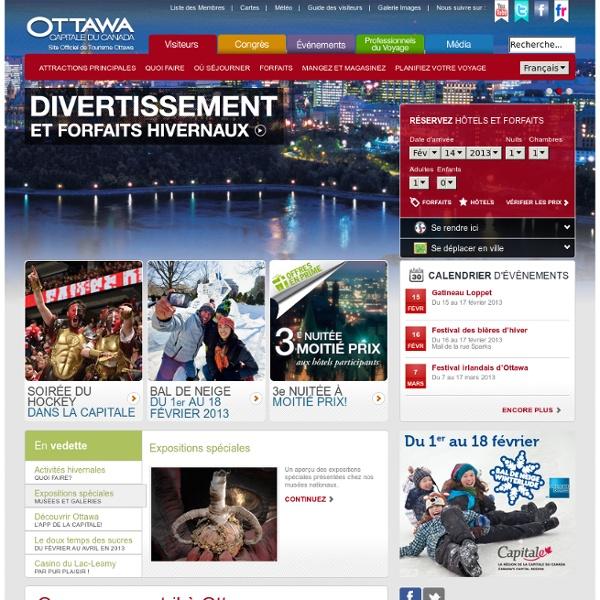 Site Officiel de Tourisme Ottawa
