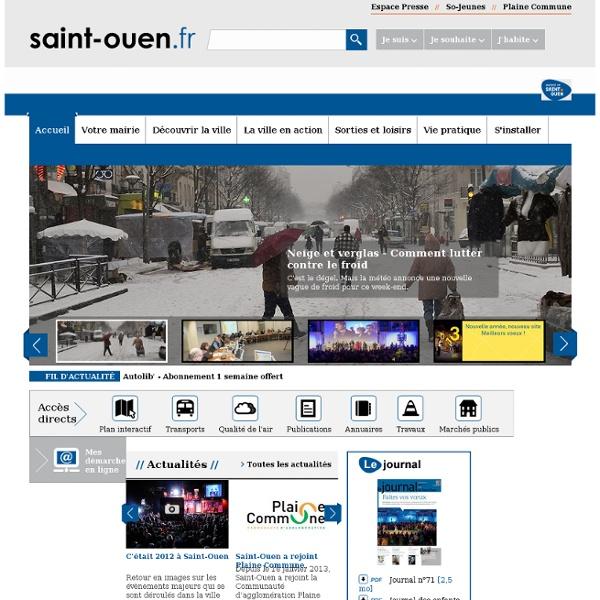 Site internet de la ville de saint-ouen