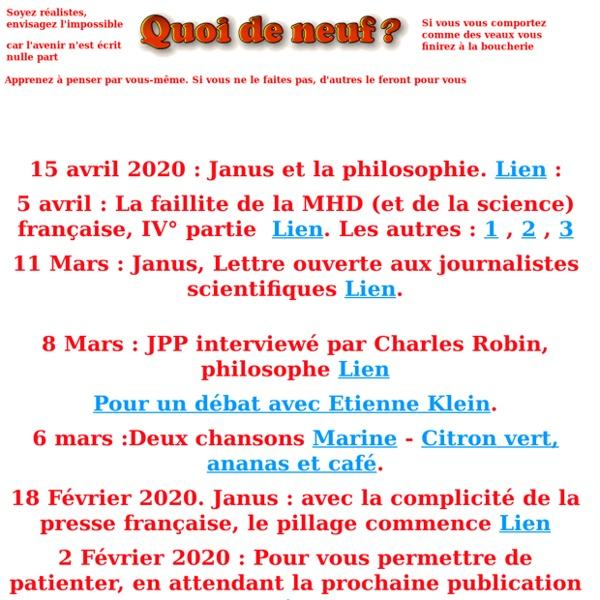 Site Jean-Pierre Petit Nouveautes