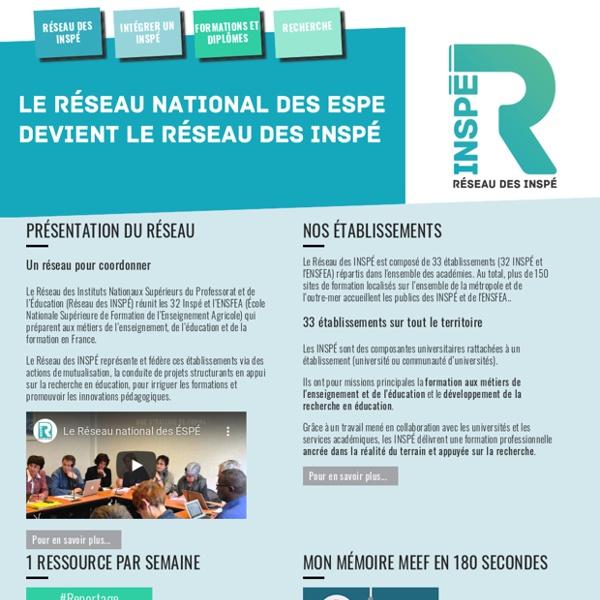 SITE + RSS du Réseau national des ÉSPÉ
