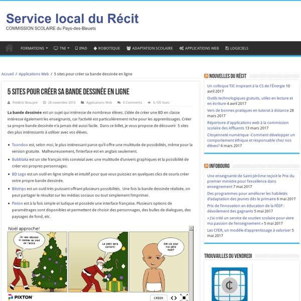 5 sites pour créer sa bande dessinée en ligne – Service local du Récit