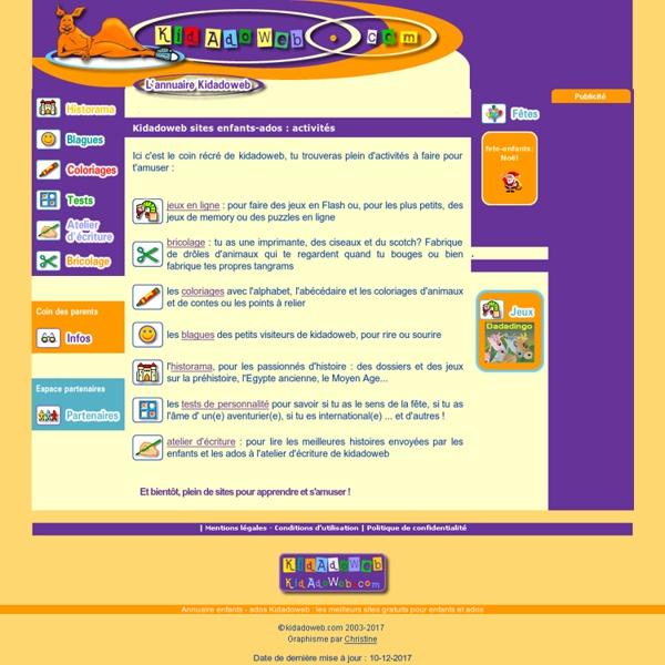Sites enfants : annuaire pour enfants et ados-Mozilla Firefox