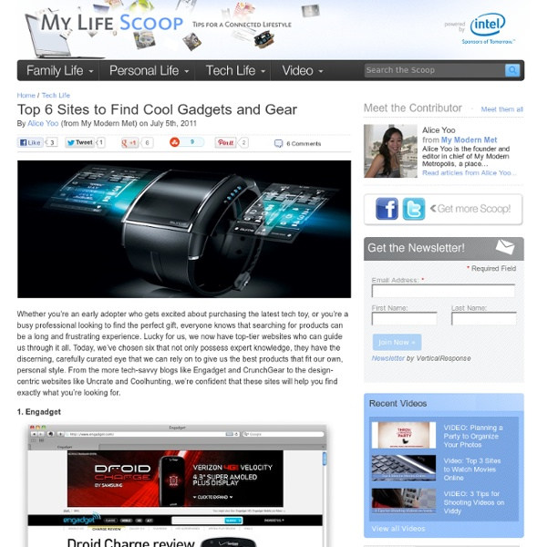 Top 6 Sites to Find Cool Gadgets and Gear
