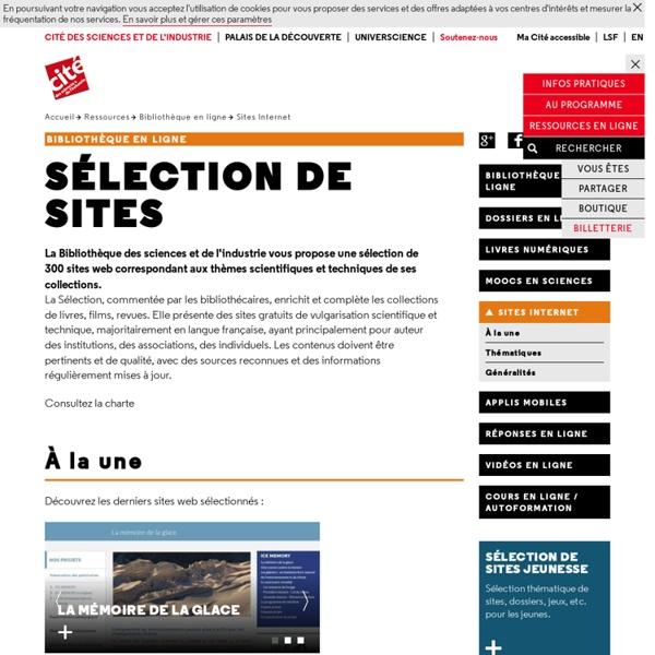 Sélection de sites scientifiques et techniques - Ailleurs sur le Web