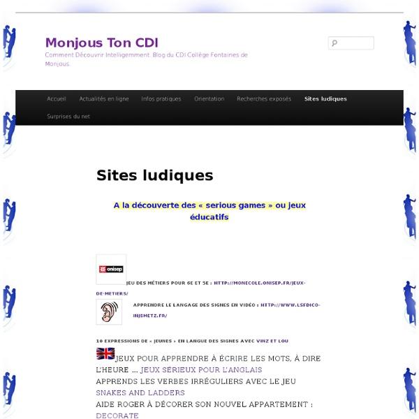 Sites ludiques « Monjous Ton CDI