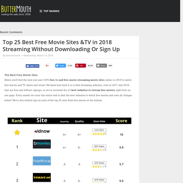 Watch Free Movies Online on the Top 25 Sites to Stream Free TV and Movies Online ~ ButterBlog