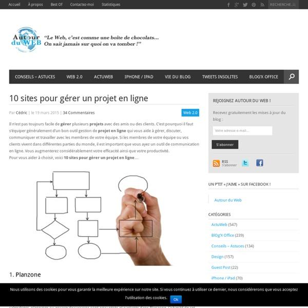 10 sites pour gérer un projet en ligne
