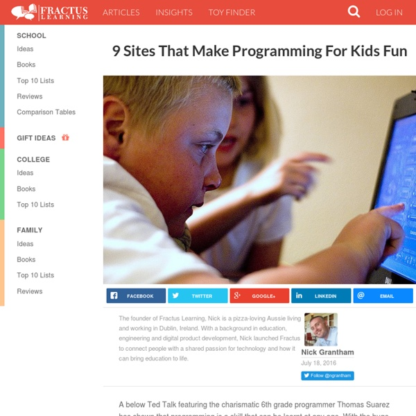 7 Sites That Make Programming For Kids Fun