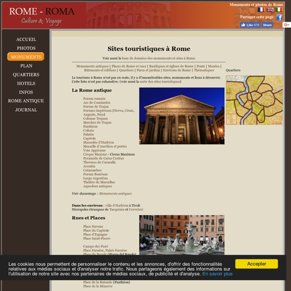 Sites touristiques à Rome