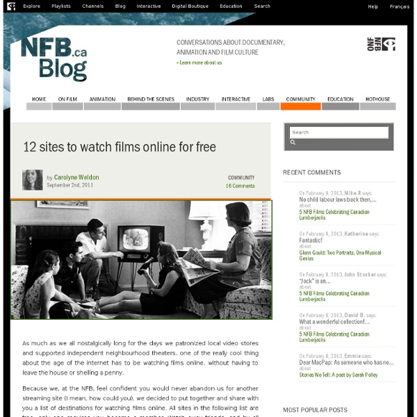 12 sites to watch films online for free