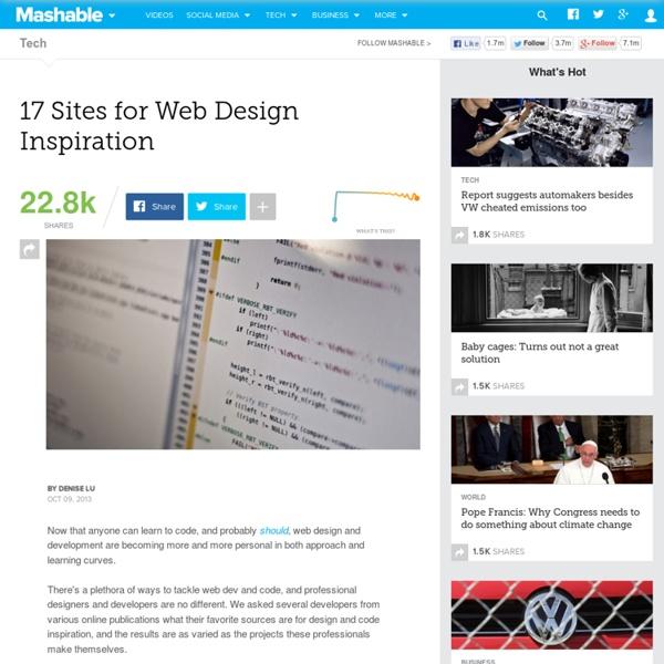 17 Sites for Web Design Inspiration