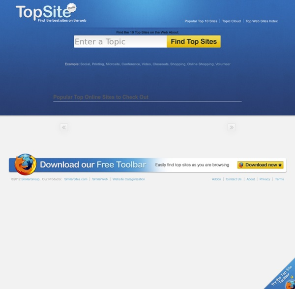 Find the Best Websites Rated by Topics