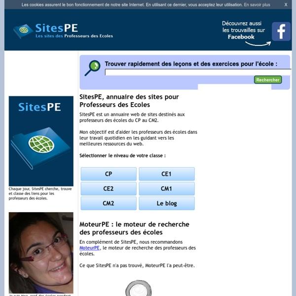 SitesPE : Annuaire web pour Professeurs des Ecoles