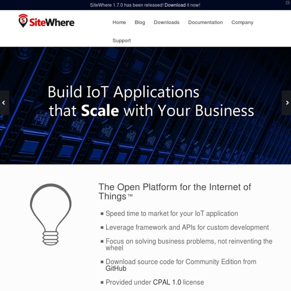 The Open Platform for the Internet of Things